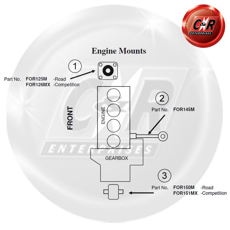 Ford Fiesta Mk4 Vibra Technics Engine Torque Link Fast