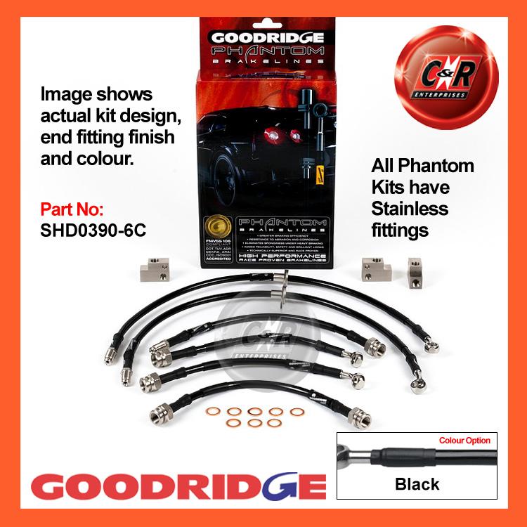 Goodridge Brake Hose SHD0380-4C for Honda Civic Type R EP3 2001-2005
