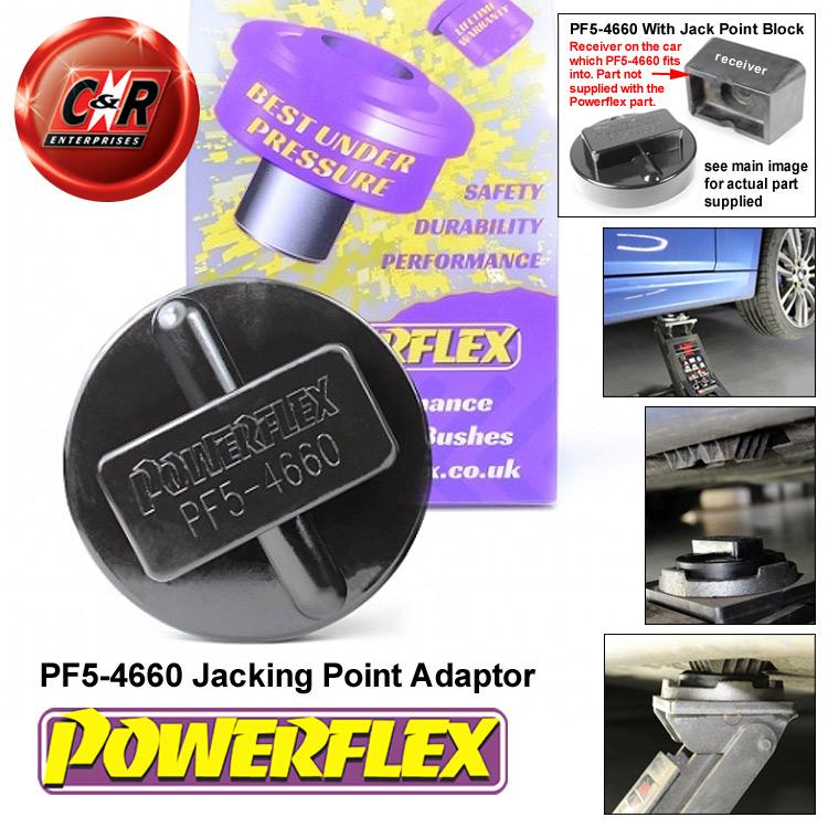 Powerflex Jacking Point Lift Mount Adaptor PF5-4660 For Mini