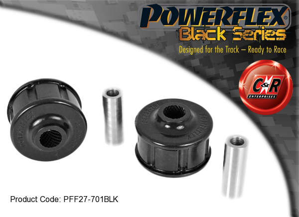 2 in Box PFF27-701BLK Powerflex Front Lower Arm Front Bushes BLACK Series