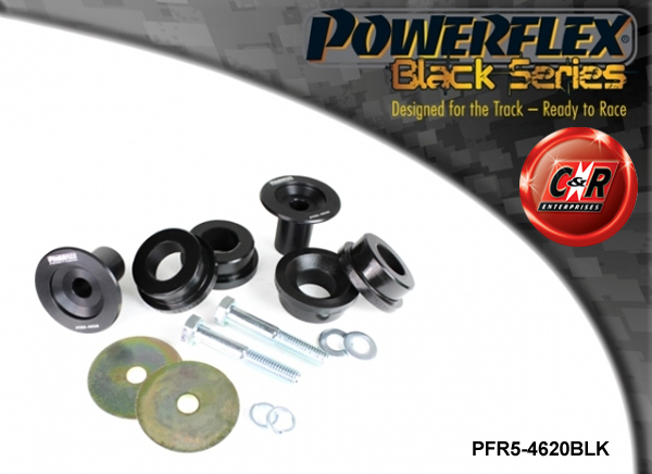 fits BMW E46 M3 PFR5-4621BLK POWERFLEX BLACK SERIES REAR DIFF FRONT MOUNT