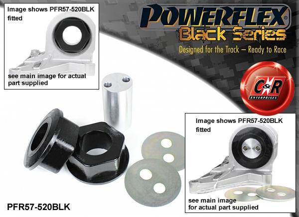 PFR60-332BLK BLACK Powerflex Rear Spring Seat Isolator Pad