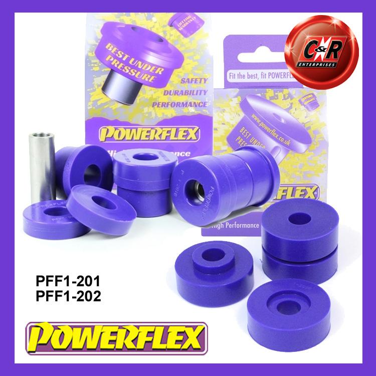 2 in Box PFF1-201BLK Powerflex Front Upper Spring Mount Inner Bushes BLACK