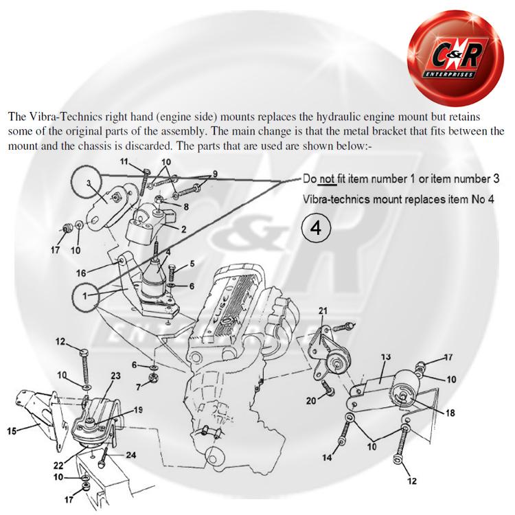 Lotus EliseExige KSeries Vibra Technics All Engine Mounts – Lotus Elise Engine Diagram