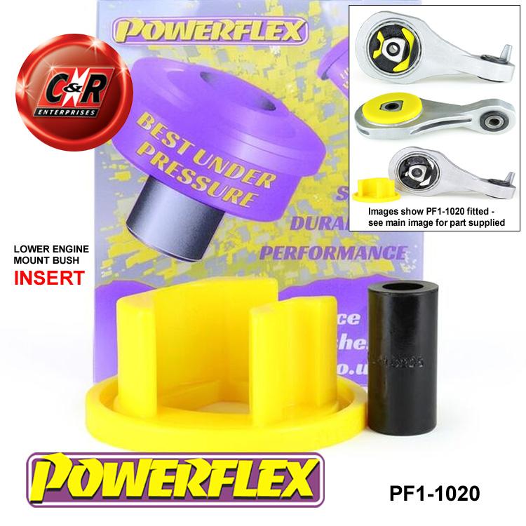 PF1-1020 Powerflex Road lower engine mount Bush INSERT FITS ALFA ROMEO 4 C